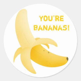 Fruity banana stickers