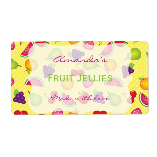 Fruity Cute Personalised Canning Label