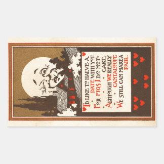 Fruity Date Request Rectangular Sticker