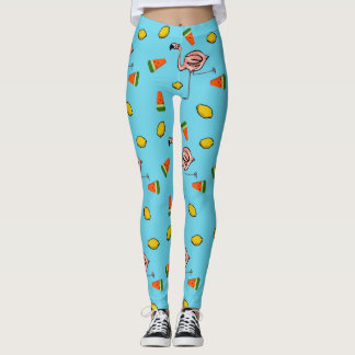 Fruity Flamingos Leggings