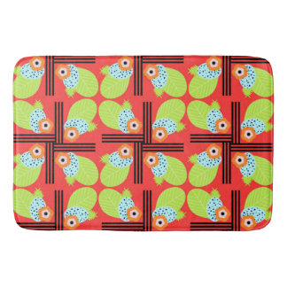 Fruity floral bath mat