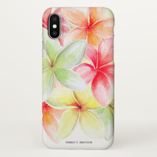 Fruity Floral Pattern Tropical Flower Personalized iPhone X Case