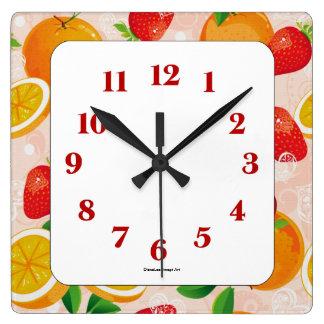 Fruity Fruits Wall Clock