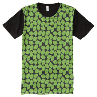 Fruity Green Limes,  Black Background to Customize All-Over Print T-Shirt