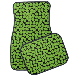Fruity Green Limes, Black Background to Customize Car Mat