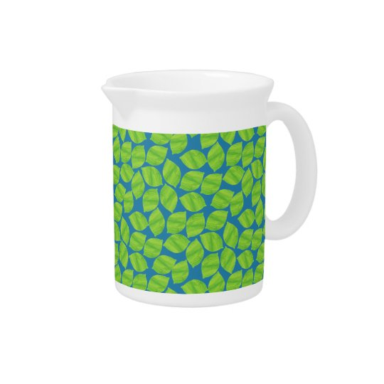 Fruity Green Limes on Blue Background to Customise Drink Pitcher