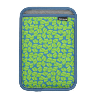Fruity Green Limes on Blue Background to Customize iPad Mini Sleeve
