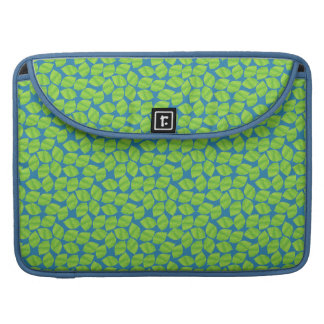 Fruity Green Limes on Blue Background to Customize Sleeves For MacBook Pro