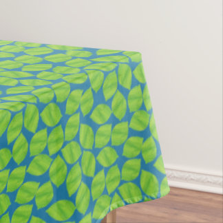 Fruity Green Limes on Blue Background to Customize Tablecloth