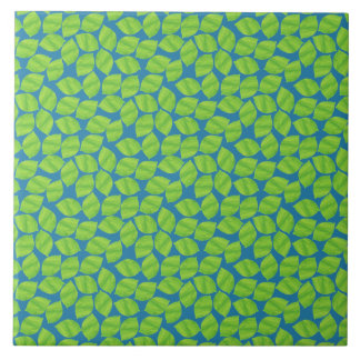 Fruity Green Limes on Blue Background to Customize Tile