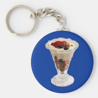 Fruity Italian Sundae Basic Round Button Key Ring