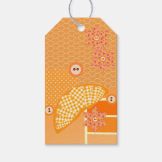 Fruity Orange Patchwork Decorative Scrapbook Gift Tags
