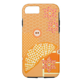Fruity Orange Patchwork Decorative Scrapbook iPhone 8/7 Case