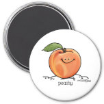 Fruity Peach - Cartoon Fridge Magnet