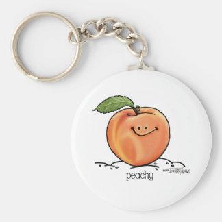 Fruity Peach - Cartoon Key Ring