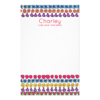 Fruity picnic - a pattern of fruits personalised stationery