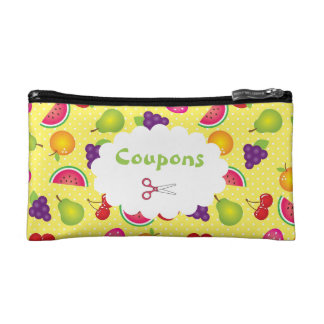 Fruity Polka Dot Coupon Organizer Cosmetic Bag