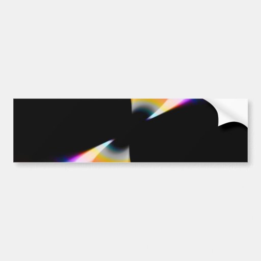 Fruity Rainbow Twirl Bumper Stickers