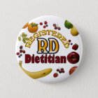 FRUITY RD - REGISTERED DIETITIAN 6 CM ROUND BADGE
