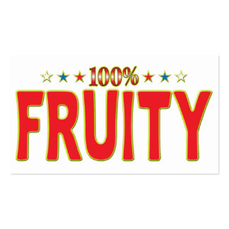 Fruity Star Tag Pack Of Standard Business Cards