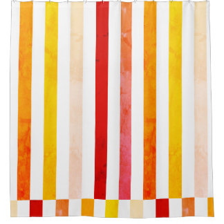 Fruity stripes shower curtain