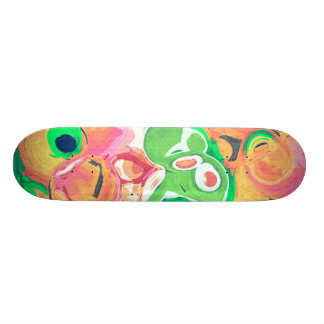 Fruity Swirl Abstract Skate Deck