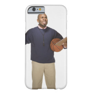 Frustrated basketball coach, on white background barely there iPhone 6 case