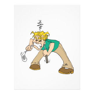 Frustrated Golfer Full Color Flyer
