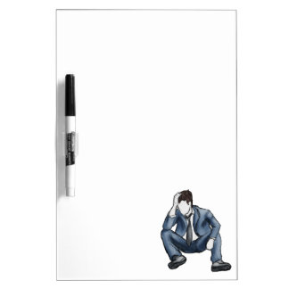 Frustrated Man Dry Erase Board