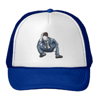 Frustrated Man Hats