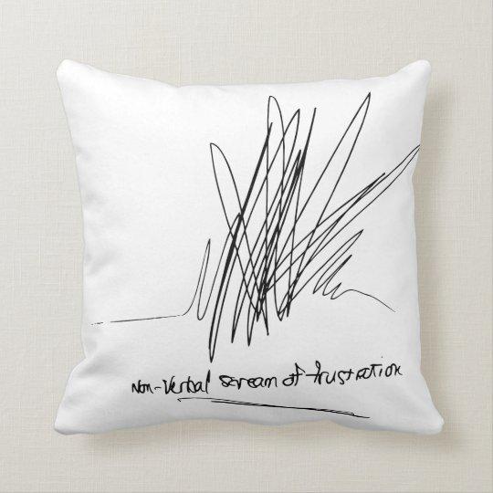 Frustration Throw Pillow! Cushion
