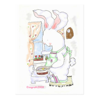 fry bunny postcard -