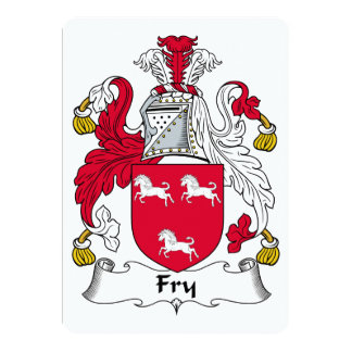 Fry Family Crest 13 Cm X 18 Cm Invitation Card