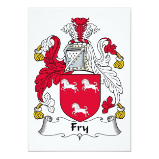 "Fry Family Crest 5"" X 7"" Invitation Card"