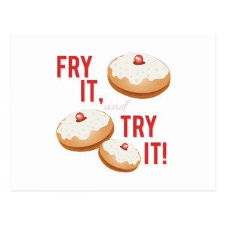 Fry It Try It Postcard