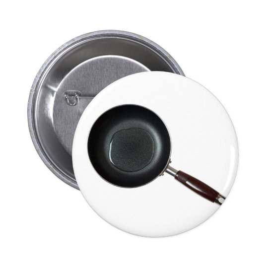 Frying pan with cooking oil 6 cm round badge