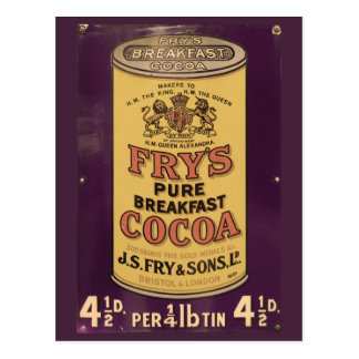 Fry's Cocoa Vintage Ad Postcard