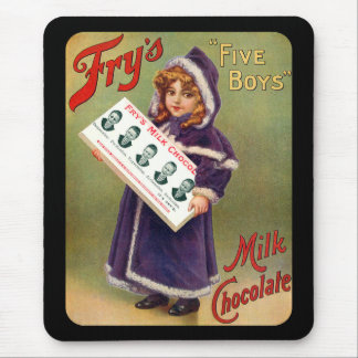 Fry's Five Boys Milk Chocolate Vintage Poster Mouse Pad