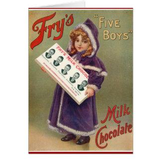 Fry's Milk Chocolate Christmas Ad Cards