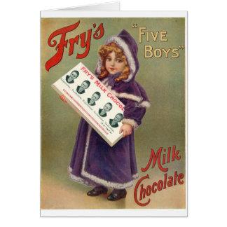 Fry's Milk Chocolate Christmas Ad Greeting Card