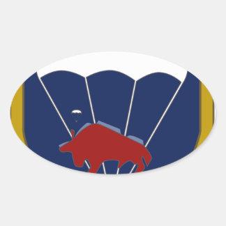 FschJgBtl 314 Oval Sticker