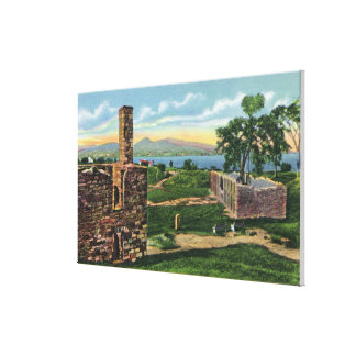 Ft Crown Point View of South Barracks Canvas Print