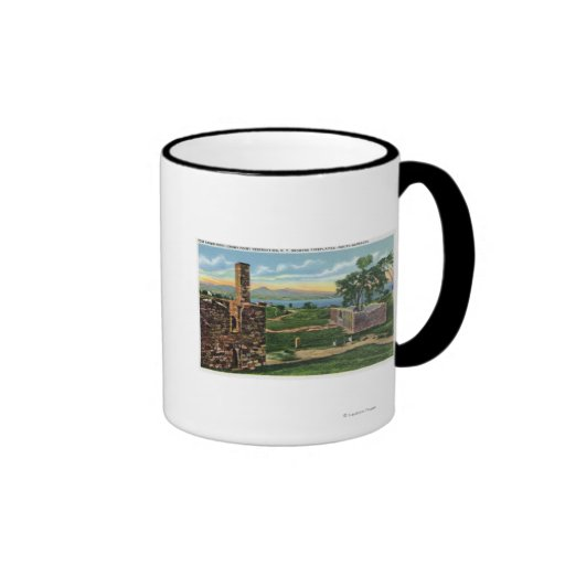 Ft Crown Point View of South Barracks Mug