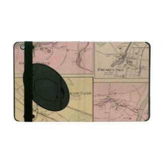 Ft Fairfield, Presque Isle, Caribou Map iPad Folio Case