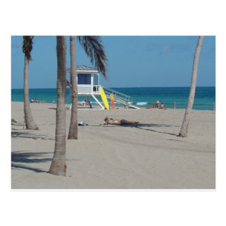 Ft Lauderdale Beach Lifeguard Stand Postcard