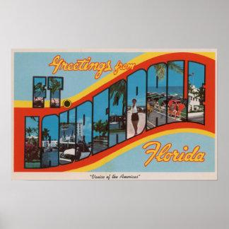Ft. Lauderdale, Florida - Large Letter Scenes 2 Poster