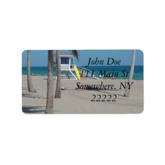 Ft Lauderdale Florida Lifeguard Stand Address Label