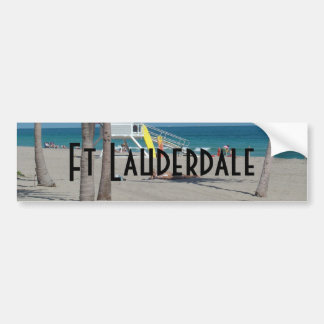 Ft Lauderdale Florida Lifeguard Stand Bumper Sticker
