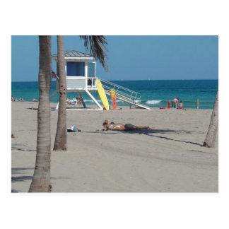 Ft Lauderdale Florida Lifeguard Stand Postcard