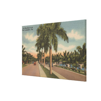 Ft. Lauderdale, Florida - View of Las Olas Canvas Print